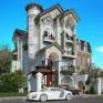 Thiết kế biệt thự cổ điển 4,5 tầng kiểu Pháp đẹp mê hồn tại TP Hồ Chí Minh