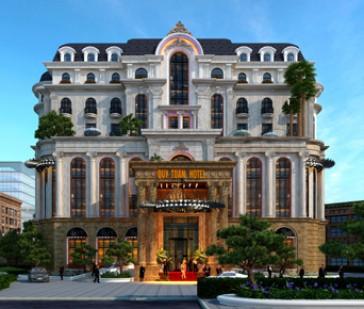 Quý Toàn Hotel - Mẫu thiết kế khách sạn kiểu Pháp mẫu mực