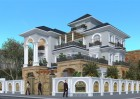 Thiết kế biệt thự tân cổ điển đơn giản nhẹ nhàng mà lại sang - Lạng Sơn