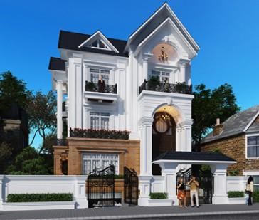Thiết kế biệt thự tại Hà Tĩnh - Vẻ đẹp tân cổ điển hút hồn gia chủ