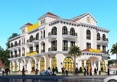 Thiết kế khách sạn kiểu Pháp -Chọn lọc đặc biệt 3 tầng - 5 tầng - 7 tầng - 9 tầng