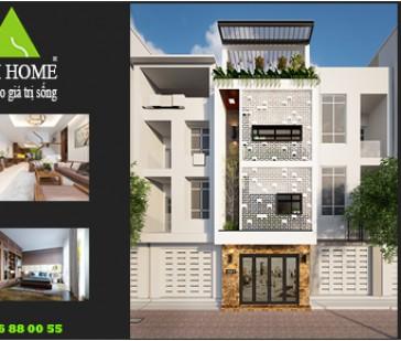 Ấn tượng mẫu thiết kế nhà phố 4 tầng hiện đại tại Ninh Hiệp