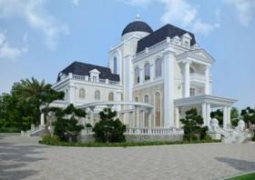 Dinh thự 5 tầng kiến trúc Pháp đẹp tại Ninh Bình