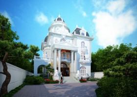 Vẻ đẹp lâu đài biêt thự 3.5 tầng kiến trúc Pháp