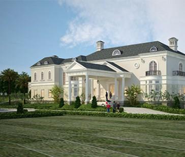 Dinh thự 2 tầng đẹp xa hoa, lộng lẫy kiến trúc tân cổ điển