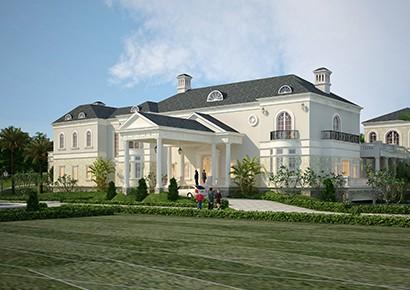Dinh thự 2 tầng đẹp sang trọng, quyến rũ theo phong cách tân cổ điển Pháp