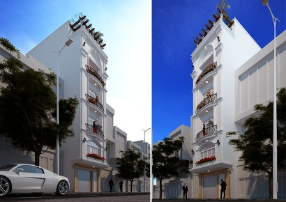 Nhà phố đẹp, nội thất sang trọng và hiện đại theo phong cách Pháp