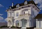 Mẫu biệt thự nhà phố đẹp 2 tầng tân cổ điển Pháp