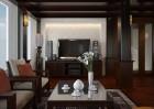 Không gian nội thất  ấm cúng với gam màu nâu của vật liệu gỗ