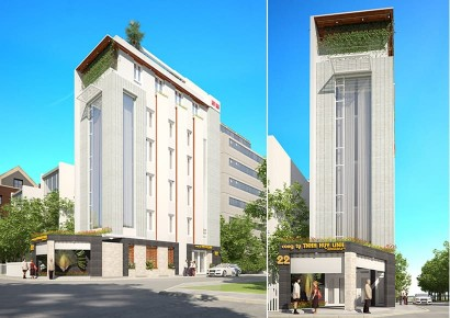 Các mẫu thiết kế tòa nhà văn phòng đẹp hiện đại và hợp lý không gian