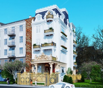 Thiết kế biệt thự Pháp trên phố Trung Yên nổi bật với 5 tầng sang trọng