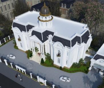 Thiết kế dinh thự cổ điển siêu khủng tại Hòa Bình với khuôn viên bao la rộng lớn