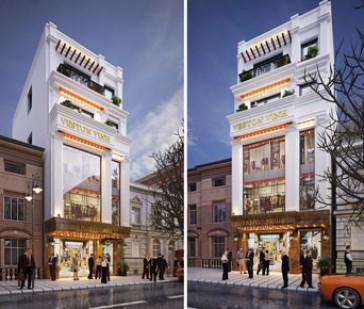 Nhà phố 5 tầng kết hợp cửa hàng hiện đại tại Thường Tín